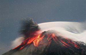Erupción volcánica activa alerta roja en Colombia (2009)